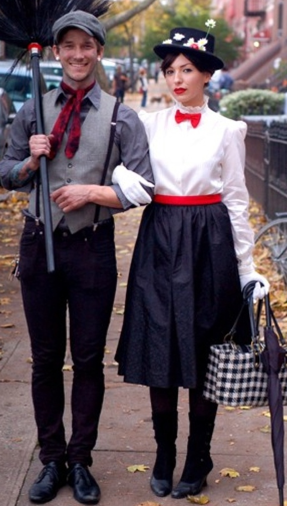 Hereu0027s an idea where the ladies get to wear the bow tie for a change! Mary Poppins and her beloved Chimney Sweep make the cutest pair!  sc 1 st  The Bowtie Belle - WordPress.com & Fun Halloween Costume Ideas that Include Bow Ties! | The Bowtie Belle